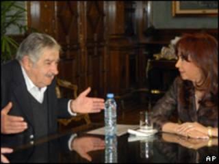 José Mujica y Cristina Fernández