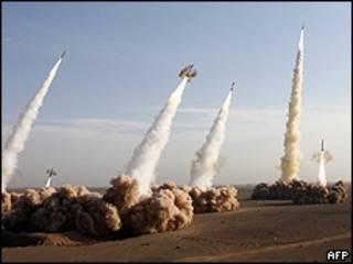 Prueba de misiles iraní
