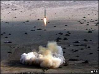 Lanzamiento de misil iraní