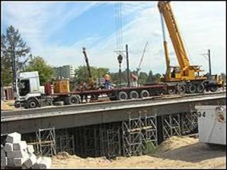 Construcción de una autopista en Polonia