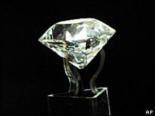 Foto de archivo de un diamante pulido