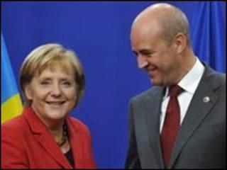 Angela Merkel e Fredrik Reinfeldt