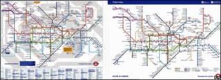 新旧地铁图