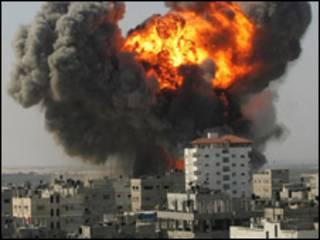 القصف الاسرائيلي على غزة (يناير 2009)