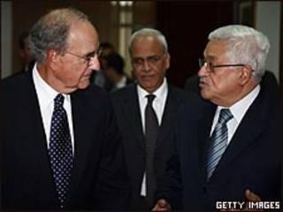 عباس وجورج ميتشل