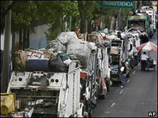 Camiones de basura en Ciudad de México (Foto:17/09/2009)