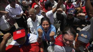 Seguidores de Zelaya en Honduras.