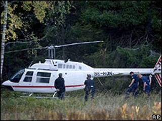 Polícia sueca encontra helicóptero que teria sido usado em roubo