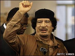 O presidente da Líbia, Muammar Khadafi