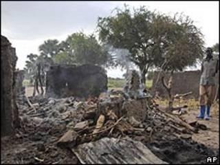 آثار الهجوم على قرية دوك باديت