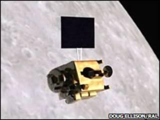 Lua e a sonda Chandrayaan-1
