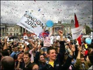 伦敦庆祝赢得2012奥运举办权