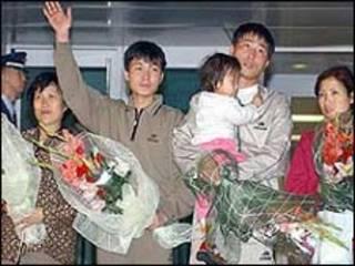 Hình minh họa người tị nạn Bắc Hàn ở sân bay Incheon, Seoul