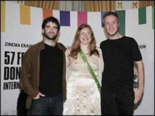 Daniel Hendler, Natalia Smirnoff, Federico Veiroj (Foto sitio oficial Festival San Sebastián)