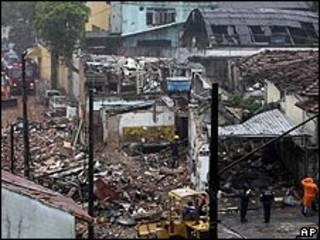 Explosión en Brasil