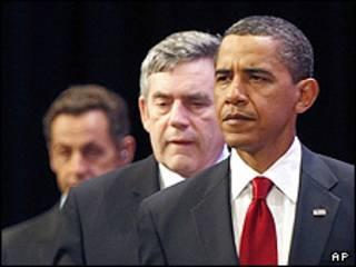 اوباما براون سارکوزی