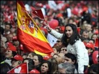 مظاهرة في اسبانيا
