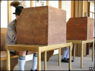 Votación en Bayrischzell