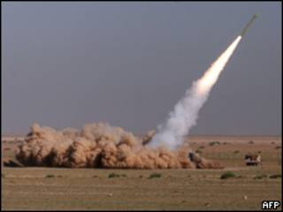 Imagens do teste com míssil iraniano