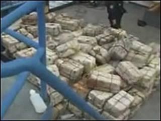 Cocaína apreendida pela Marinha Britânica