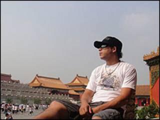O brasileiro Diego de Paulo na China (Foto: Arquivo pessoal)