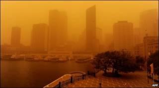 Tormenta de polvo en Sidney