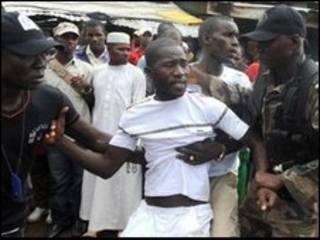 تظاهرکنندگان در گینه