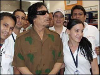 الزعيم الليبي، معمر القذافي