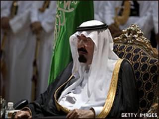 El rey Abdullah de Arabia Saudita