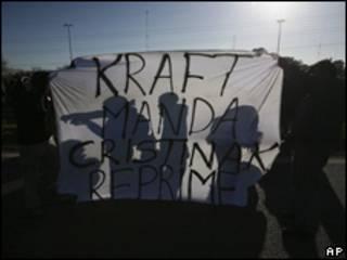 Manifestaciones contra Kraft en Argentina