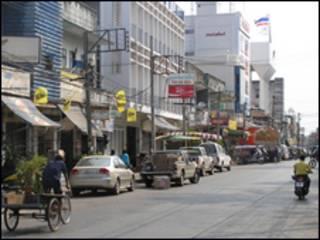 Cảnh đường phố Thái Lan (hình minh họa)