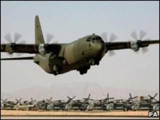 Avião Hercules C130 da Raf (arquivo)