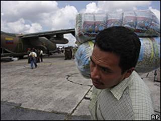 Envío de alimentos a Guatemala desde Venezuela