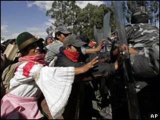 Movilización indígena en Ecuador