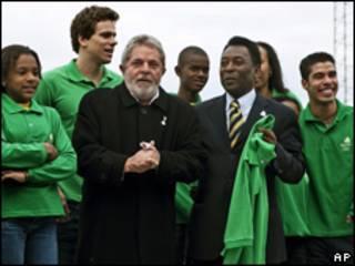 Lula, Pelé e atletas