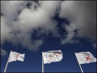 العلم الاولمبي في سماء كوبنهاجن