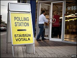 Votación en Irlanda, 2 de octubre 2009