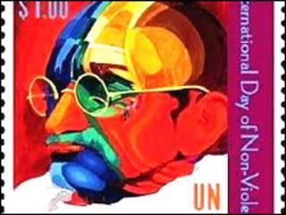 महात्मा गांधी पर डाक टिकट