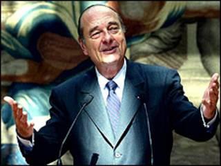 O ex-presidente francês Jacques Chirac (arquivo)
