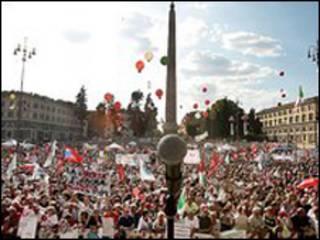 مظاهرة في روما