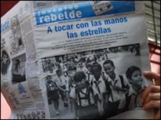 Periódico cubano Juventud Rebelde (foto Raquel Pérez)