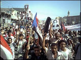 متظاهرون جنوبيون في اليمن
