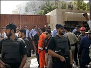 Seguridad ante el edificio de la ONU en Islamabad