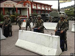 Arredores da embaixada brasileira em Tegucigalpa