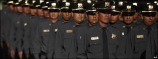 Graduación de policías mexicanos