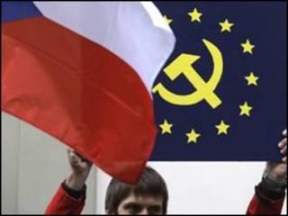 پرچم چک و اتحادیه اروپا