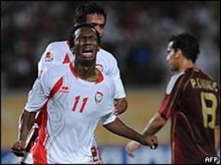 فرحة احمد خليل بهدف الفوز