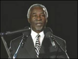 رئيس جنوب أفريقيا السابق، ثابو مبيكي