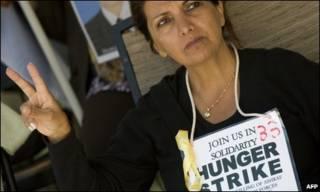 اعتصاب غذای یک حامی ساکنان اشرف در واشنگتن