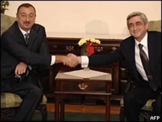 Президенты Армении и Азербайджана